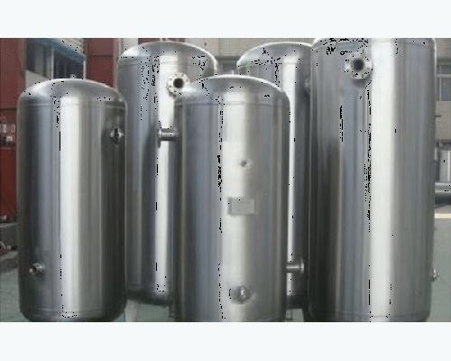 不锈钢立式亚光储气罐